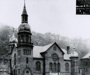 June 23, 1921 - John Eichleay Jr., Company was awarded contract  to move the church 20' into the hillside & 8' up