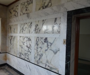 Marble Wall of Rectory Office, photo taken in 2013