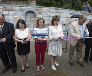 Ribbon Cutting for Memorial wall and Interpretive panels during at the former St. Nicholas Croatian Church North Side site.