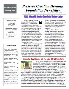 St. Nicholas R.C. Church N.S. - Newsletter FEB 2017