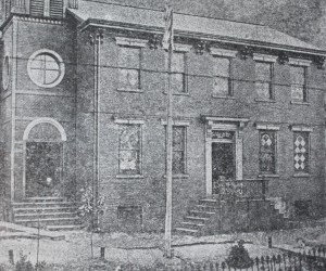 1894 The First Croatian Church in Allegheny City, PA. 1546 E. Ohio Street.