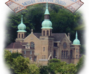 2015 Mosaic and church image featured on the Interpretive panel at St. Nicholas Church Historic Site