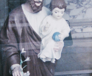 St. Joseph holding Infant Jesus inside the chapel
