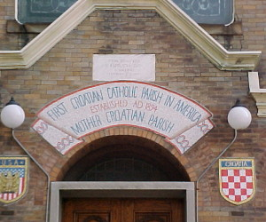 Mosaic installed 1979 - First Croatian Catholic Parish in America