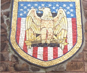 U.S.A. Coat of Arms mosaic installed 1979 In memory of Jose & Mary Tokich
