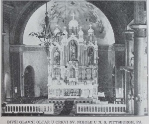 Original altar in St Nicholas Church, N.S. - 1901