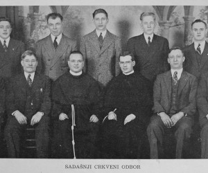 1944 Parish Council with Revs. Boniface Soric and Marion Soric (cousins)