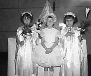 1959 First Holy Communionicant with Angels