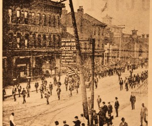 1901 - The Great Parade for the dedication of the new St. Nicholas Church, 	1326 E. Ohio Street - Croatians marching from the Church to Downtown Pittsburgh and return