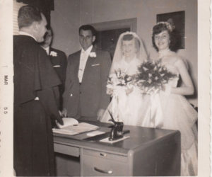 1955 Wedding in Priest House
