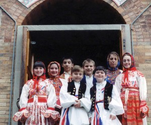 2002 April 20 - Parich children in Croatian dress for Earth Day Event - tour and luncheon