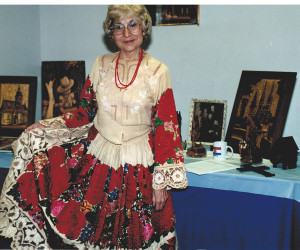 2002 April 20 - hand-made Croatian dress from Zagreb -  Church Earth Day Event, April