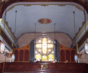 Choir loft photo taken in 2002