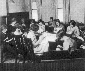 1900s (early) Sarah Heinz House - Girls Sewing Class (photo courtesy of Sarah Heinz House)