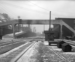 1912 - Pine St. Bridge looking E. along the W. PA R.R., Wm. Lang Tannery & Pgh. Wood Co.  715.122494.CP **