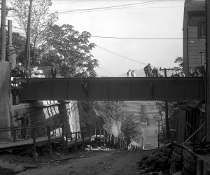 1915 - Lowrie St. Bridge (Troy Hill) as seen from east side 715.154630.CP **