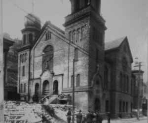 1921 Congregating outside of St. Nicholas Church