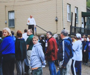 2002 - A walking tour being given of Mala Jaska - Earth Day Event, 1406 East Ohio St.