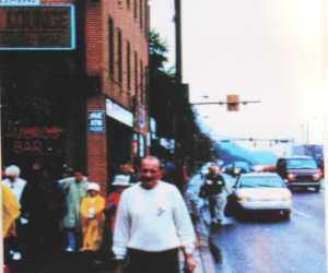 2002 - Giving a tour of Mala Jaska and St. Nicholas Church - Earth Day Event