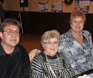 Zivic's, siblings, Ron and Donna with mom, Catherine - 2011
