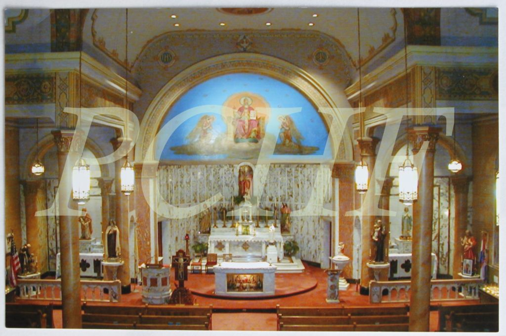 Watermark #1 Note card Church interior
